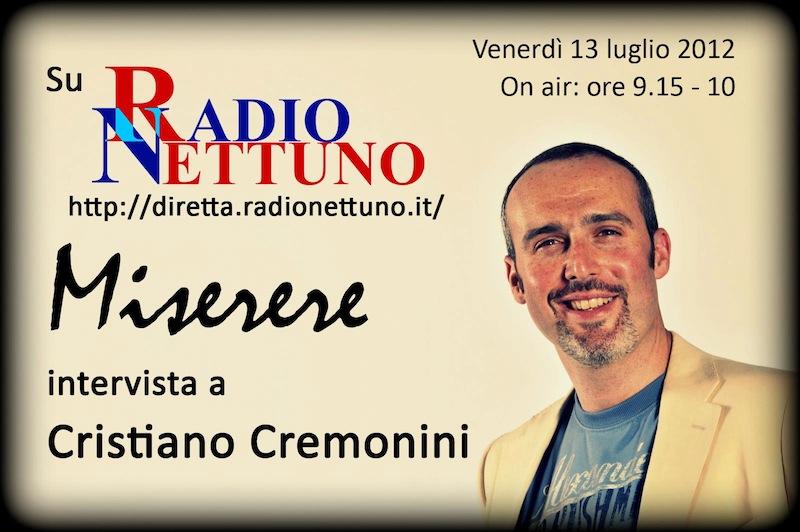 Cristiano Cremonini Tenore Opera Singer Cantante Lirico Miserere Portico di San Luca Bologna Radio Nettuno