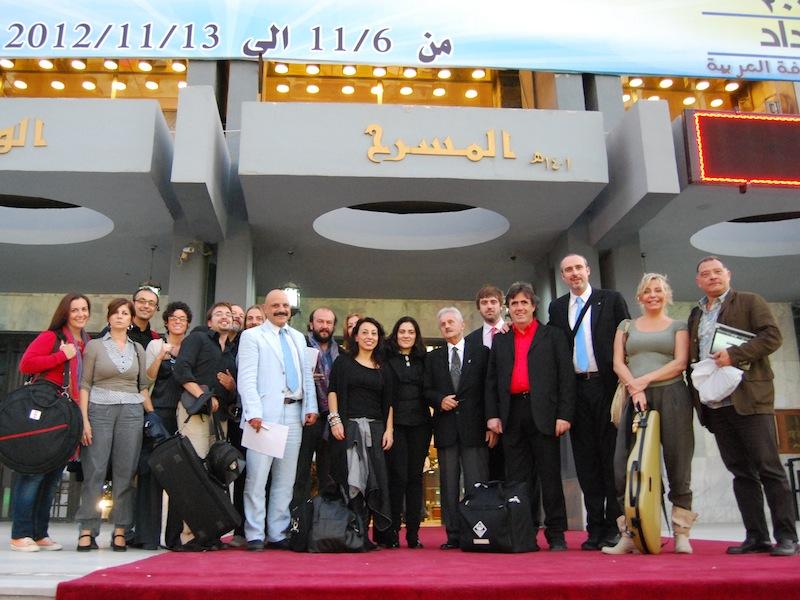 Cristiano Cremonini Tenore in tournè in Iraq Baghdad per la promozione delle arti patrocinato dalla Farnesina