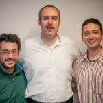 Cristiano Cremonini con Alessandro Dal Monte e Gaetano Mastroiacono