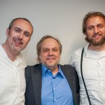 Cristiano Cremonini con il consulente artistico Umberto Fanni e Ziyan Atfeh