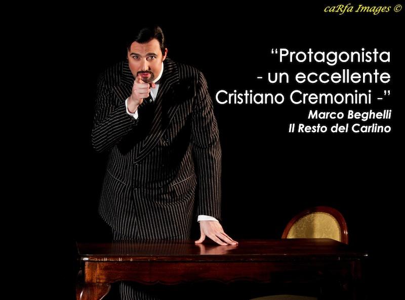Cristiano Cremonini nella recensione del Il Resto del Carlino di Marco Beghelli