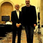 Cristiano con il musicologo bolognese Piero Mioli