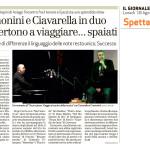 """""""Voce e Piano"""" di Cremonini e Ciavarella debutta al Teatro Duse di Bologna"""