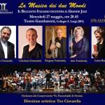 Cremonini, Ciavarella e la Musica dei due Mondi - L'America e l'Italia si incontrano al Teatro Guardassoni di Bologna mercoledì 22 maggio alle 20.45. Ospite l'Orchestra del Conservatorio di Ferrara.