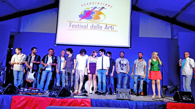 Cristiano Cremonini con Andrea Mingardi al 15 Festival delle Arti 2016