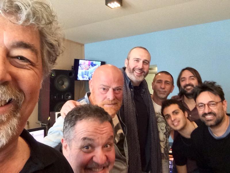 Cristiano Cremonini con il gruppo DallaBanda all'Over Studio di Bologna