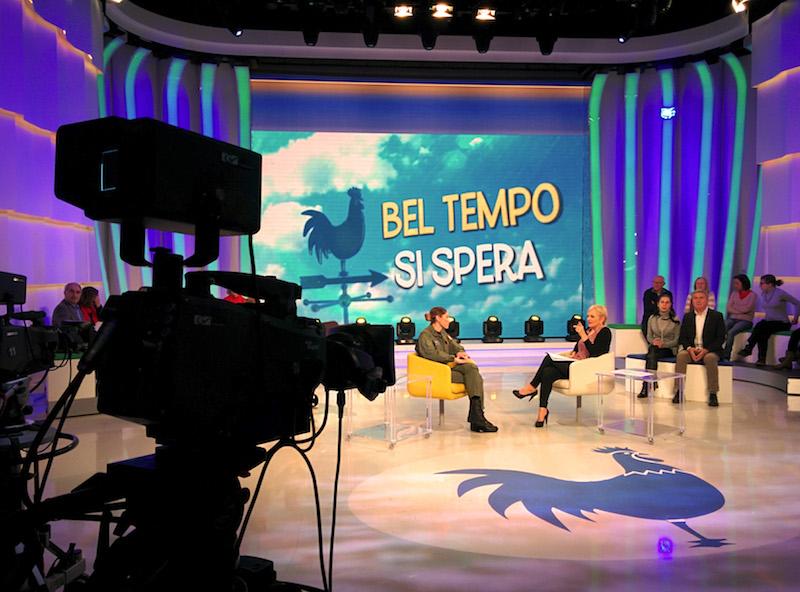 """Il tenore Cremonini ospite in TV a """"Bel tempo si spera"""""""