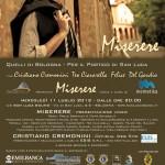 Cristiano Cremonini Tenore Opera Singer Cantante Lirico Bologna Locandina presentazione Miserere