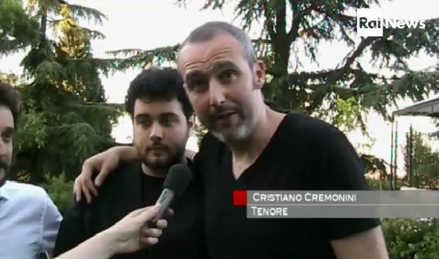 Cristiano Cremonini Tenore Opera Singer Cantante Lirico Miserere Portico di San Luca Bologna Rainews24