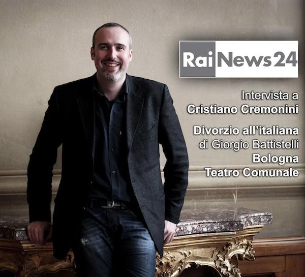 Cristiano Cremonini intervista RaiNews24 per Divorzio all'italiana