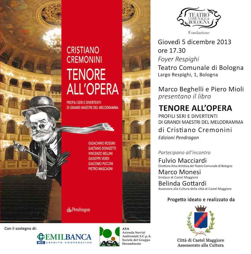 Invito Tenore all'Opera - Teatro Comunale Bologna