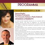 Omaggio a Pavarotti - Concerto con Serena Daolio e Cristiano Cremonini per l'inaugurazione Stagione 2014/2015 Auditorium San Rocco