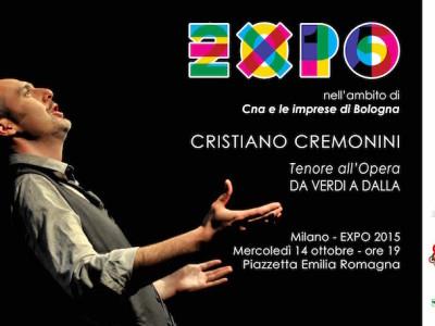 Cristiano Cremonini tenore all'EXPO Milano 2015 presso la Piazzetta della Regione Emilia Romagna Ottobre 2015