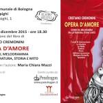 """Teatro Comunale: Cremonini presenta il libro """"Opera d'amore"""""""