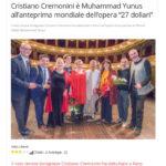 Cristiano Cremonini Tenore Opera 27 Dollari Muhammad Yunus